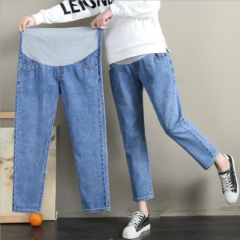 Maternity Jeans Clothes for Pregnant Women Winter Maternity Pregnancy Pants Denim Capris for Women 2021 Pregnancy Trousers