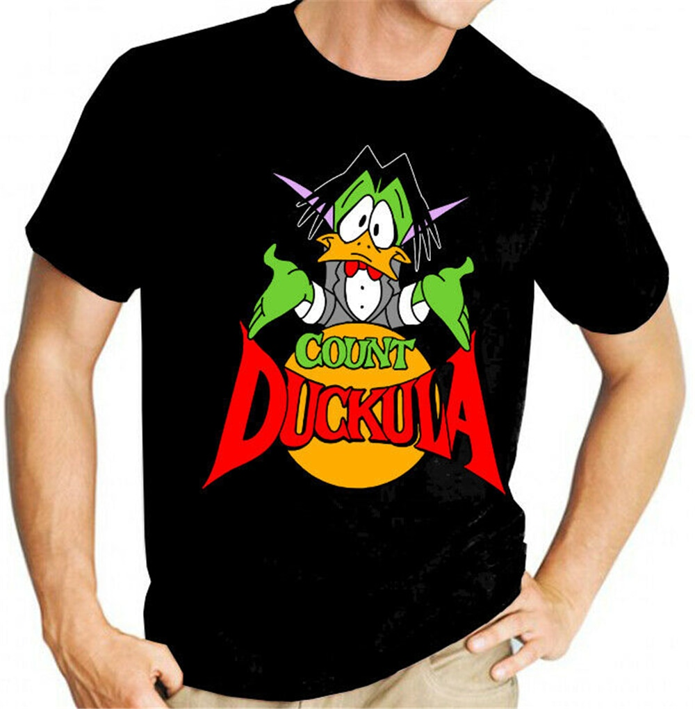 Camiseta negra divertida de Count Duckula Danger Mouse Igor Nanny Dr. Von Goosewing camiseta de diseño divertido