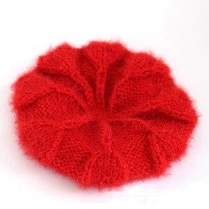 Vintage Plain knit Beret Cap Beanie Hat French Style Women Girls Wool Warm Winter Hat Femme Hats Caps Street Fashion