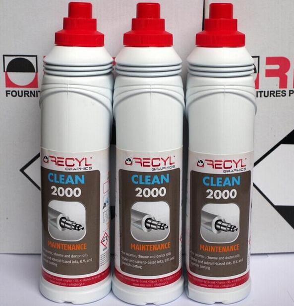 France RC2000 céramique Anilox rouleau lavage Version liquide métal Anilox rouleau Agent de nettoyage Agent de démoulage