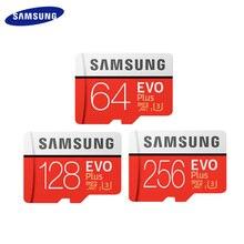 Carte mémoire SAMSUNG carte Micro SD 256GB 64GB 128GB U3 SDXC Grade EVO + classe 10 UHS TF carte Trans Flash jusquà 100 mo/s