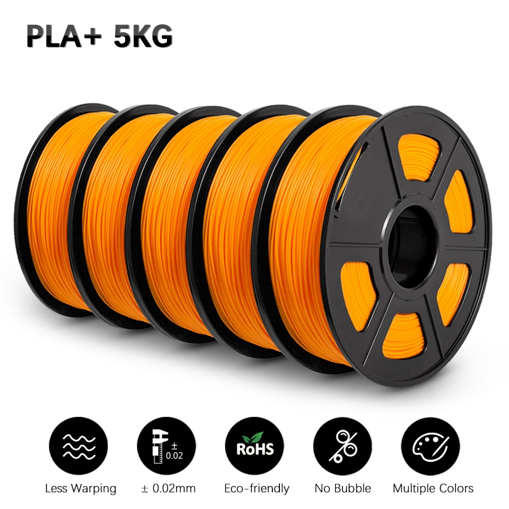 GOHIGH PLA PLUS 5 Rolls 3D Filament Colorful 1.75mm  With Spool  PLA Filament For 3D Printer And 3D Pen