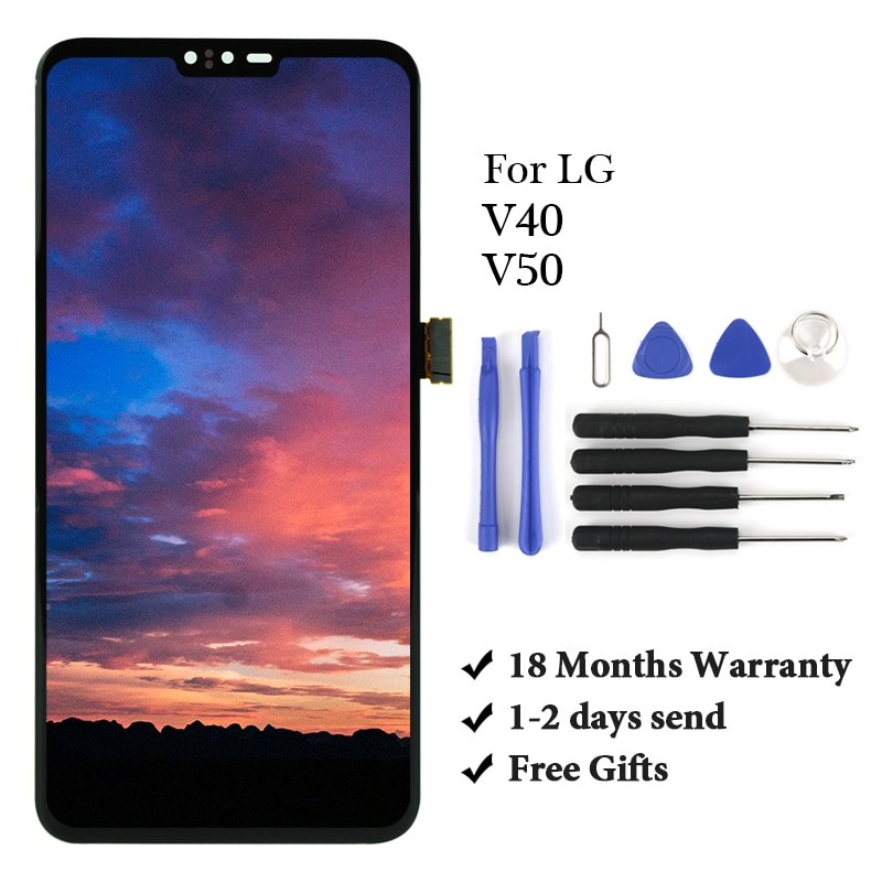 LCD For LG V50 ThinQ LCD Display Touch Screen Digitizer Assembly without Frame Replacement For LG V40/V50 LCD