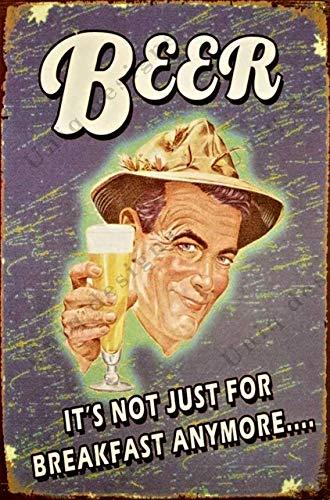 Винтажные пивные оловянные знаки пиво это не только для завтрака больше Металлические Пивные знаки-знаки винтажные пивные настенные украш...