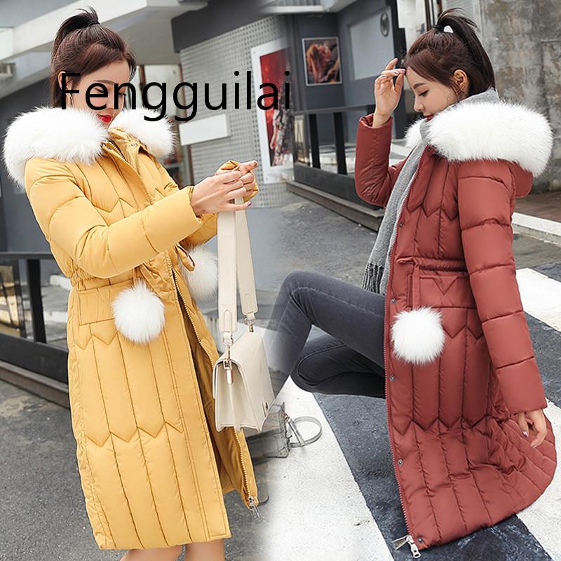 Зимнее пуховое хлопковое пальто, женская одежда 2020, парки, пальто, женские куртки больших размеров 5XL, плотная теплая верхняя одежда, меховое...