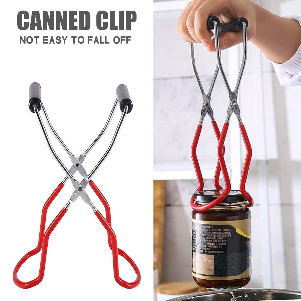 1 pçs canning jar levantador pinças de aço inoxidável jar levantador com aperto lidar com ampla boca clipe para levantar frascos pode cozinha em casa ferramenta