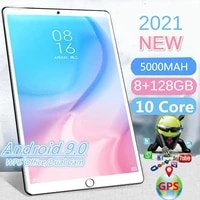 2021 new 10 1 inch 8g128g 1280800 5000mah 10 core 4g wifi android 9 0 pc tablet pc metal back tablet for gifts