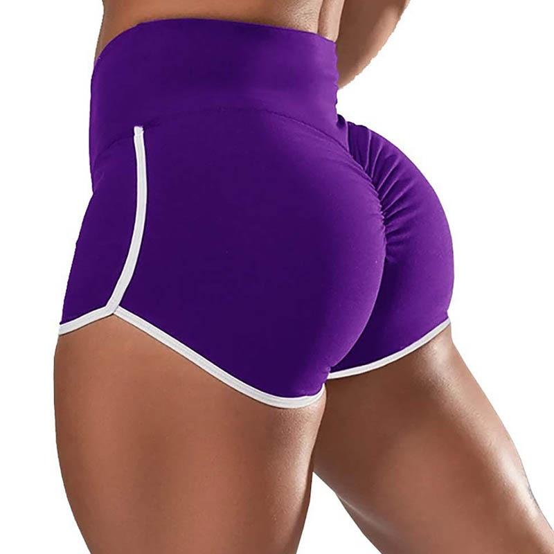 Solid Tight Folds Elasticity Shorts Woman's Simple Basic Black Short Pants Woman Casual Movement Shorts Woman Woman Summer 20201 woman