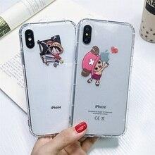 Japon ins UNE PIÈCE Coque de téléphone Tony Chopper Luffy Zoro Coque pour Apple iphone X XR 7 8 plus 6S X XS 6PLUS Souple En Silicone TPU Capa