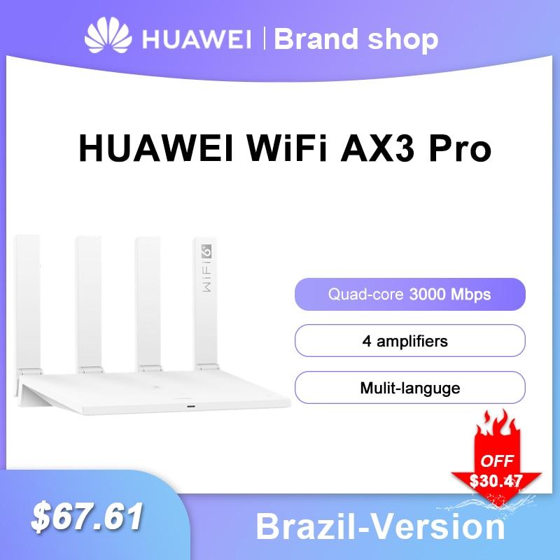 الإصدار البرازيلي من هواوي واي فاي AX3 برو أربعة مكبرات الصوت 3000 Mbps AX3 رباعية النواة واي فاي 6 + راوتر لاسلكي واي فاي 5 GHz مكرر ثنائي النطاق