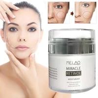 50g retinol moisturizer cream day night 2 5 lines hyaluronic acid reduces wrinkles face fine cream cream retinol