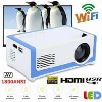 Mini projecteur M1 PK YG300 pour enfants  lecteur multimedia video Home cinema 3D  compatible HDMI  USB  prise en charge de la carte TF