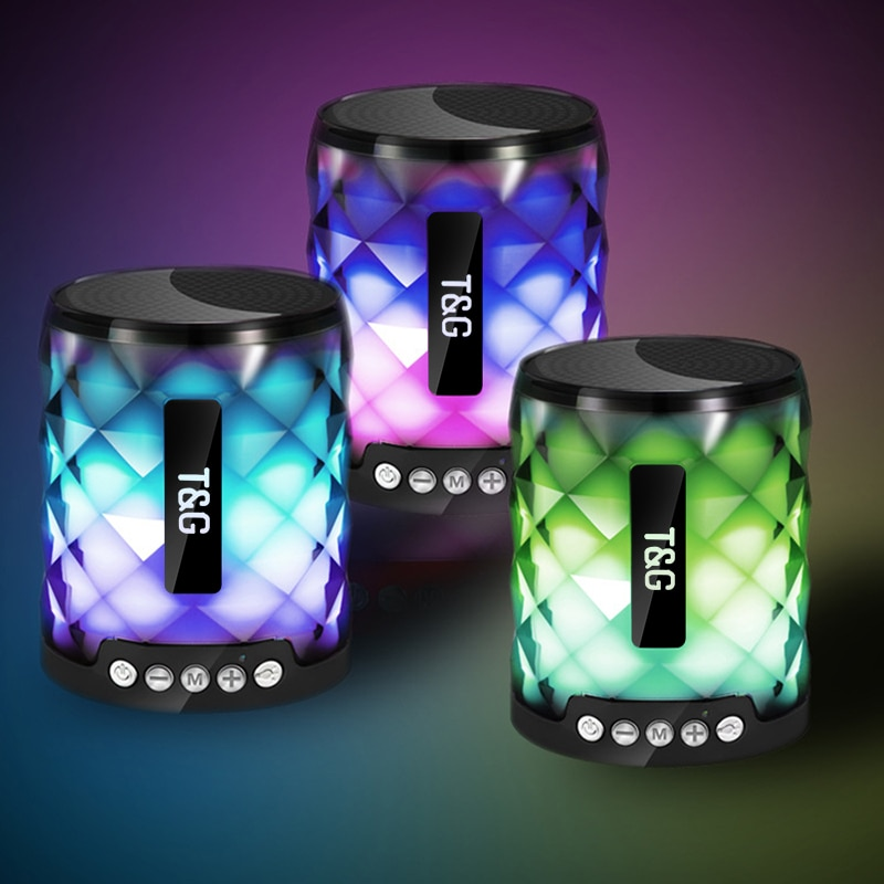 Colorido Led portátil Bluetooth altavoz bajo estéreo inalámbrico altavoz Mini columna Subwoofer soporte TF tarjeta FM centro de música