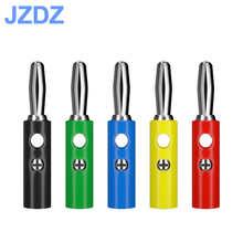 JZDZ 10 pcs 4mm Banana Plug DIY Audio Speaker Connector Adaptor 5 Colors J.10016
