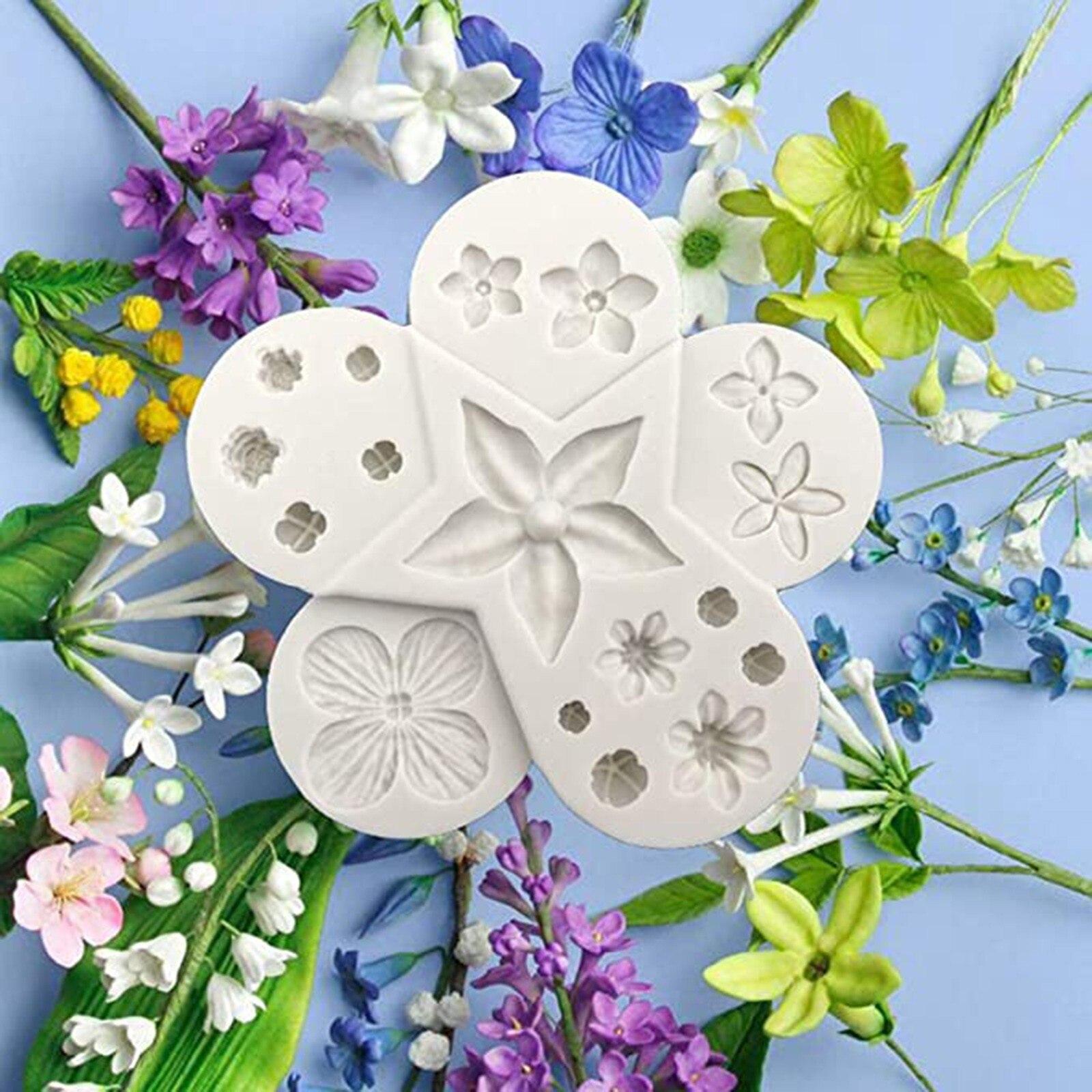 Цветок силиконовая форма в виде листьев для Fondant (сахарная) шоколад эпоксидной смолы для изделий из сахара, кондитерские кекс украшения Кухн...