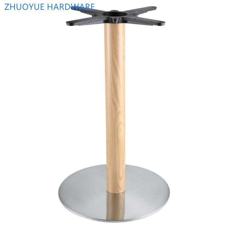Placa de hierro directa de fábrica, pie de mesa, Serie de grano de madera, restaurante occidental, pie de mesa, muebles de hotel, restaurante temático cust