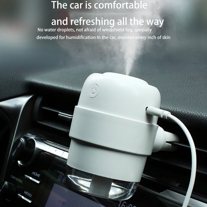 Car humidifier Essential Air Diffuser Mini USB Humidifier Purifier ultrasonic Aromatherapy Ionizer netic