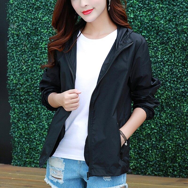 2021 Summer Fashion Causal Jackets Women Basic Jackets Zipper Lightweight Breathable Coat Jackets Fa