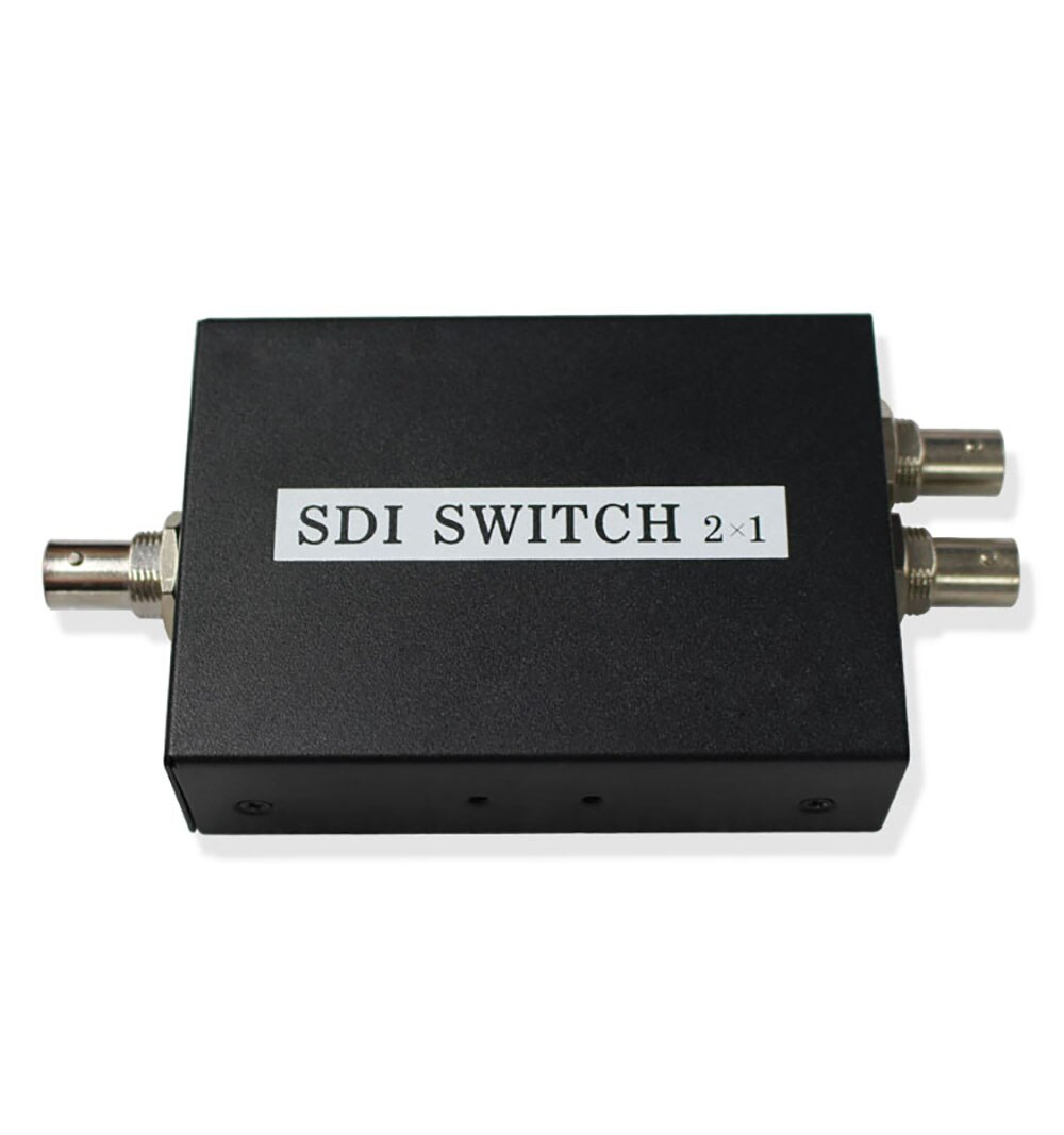 2x1 SDI interruptor extensor Convertidor para 3G HD SD Monitor cámara de seguridad vídeo CCTV