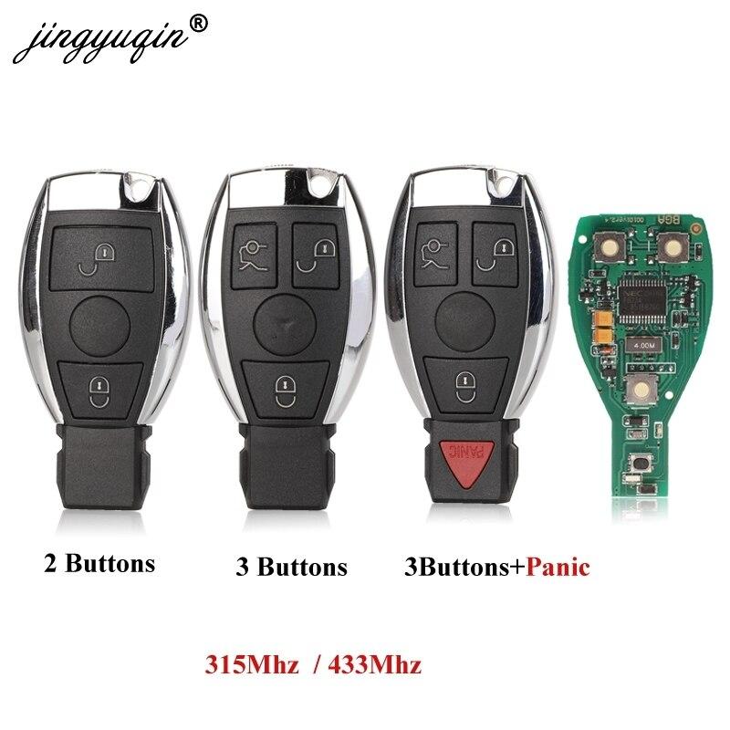 Jingyuqin 2/3/4 أزرار NEC و BGA ويكون مفتاح بعيد مع 315mhz 434MHZ لمرسيدس بنز سيارة تحكم عن بعد عام 2000-