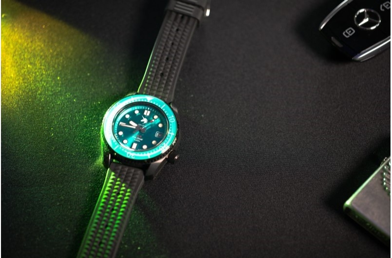 PROXIMA Green Dial Ceramic Rotating Bezel Sapphire Glass 300M Waterproof Stainless Steel NH35 AutomaticMens Watch