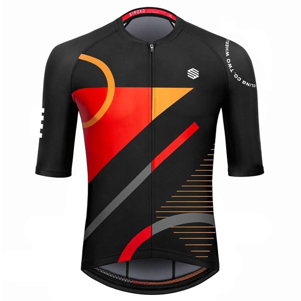 Siroko-camiseta de ciclismo de manga corta para hombre, pantalones cortos, maillot, ropa...