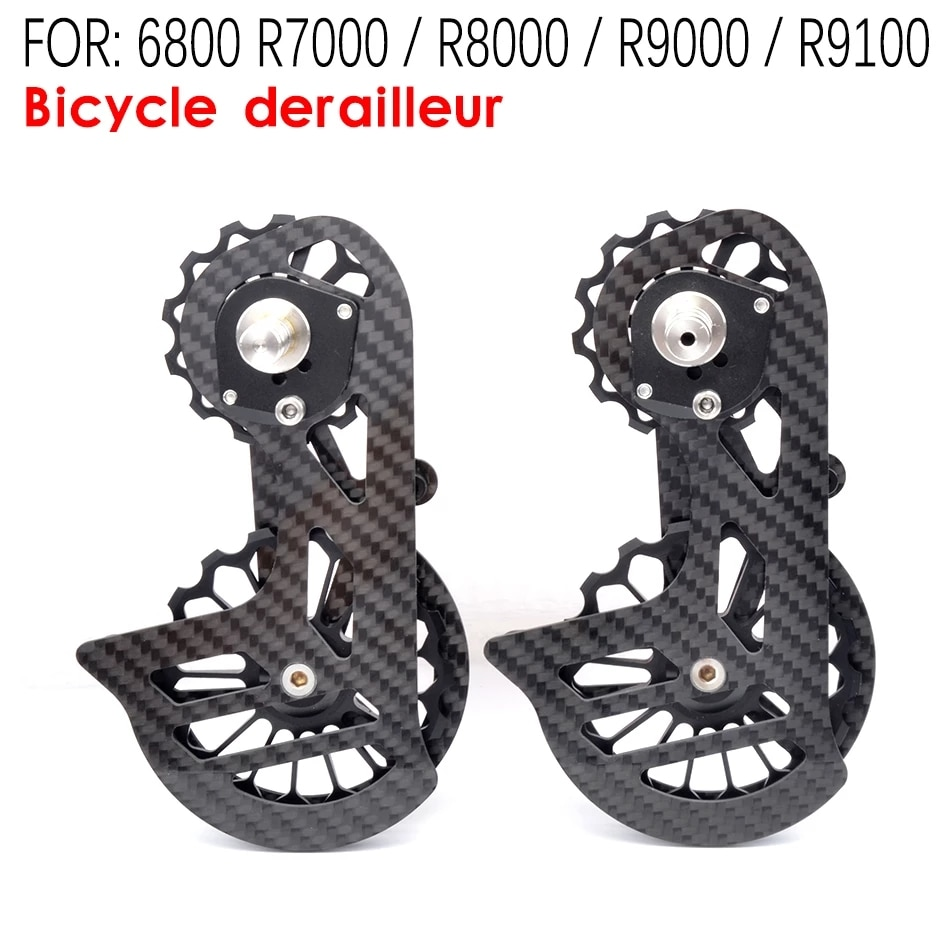 Bicycle carbon fiber ceramic rear derailleur 17T pulley Guide Wheel for Shimano 6800 R7000 R8000 R9100 R9000 bicycle accessories