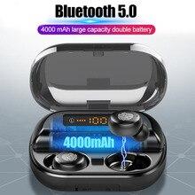 TWS Bluetooth casque 4000mAh LED affichage sans fil Bluetooth V5.0 écouteurs avec Microphone 9D stéréo étanche écouteurs V11
