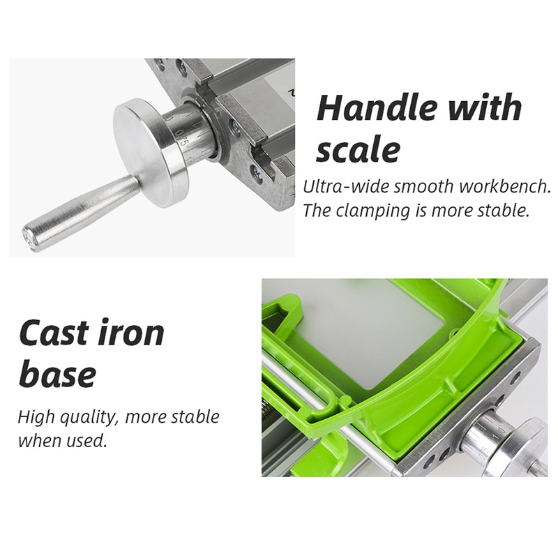 Mini Precision Multi-function Milling Machine Bench Drill Vise Fixture Milling Drill Work Table XY Adjustment Coordinate Table enlarge