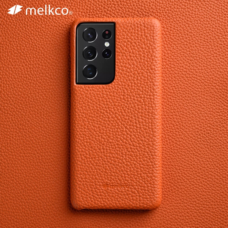 Melkco قسط جلد طبيعي الحال بالنسبة لسامسونج غالاكسي S21 الترا زائد 5G الحالات الفاخرة موضة بقرة الأعمال غطاء الهاتف