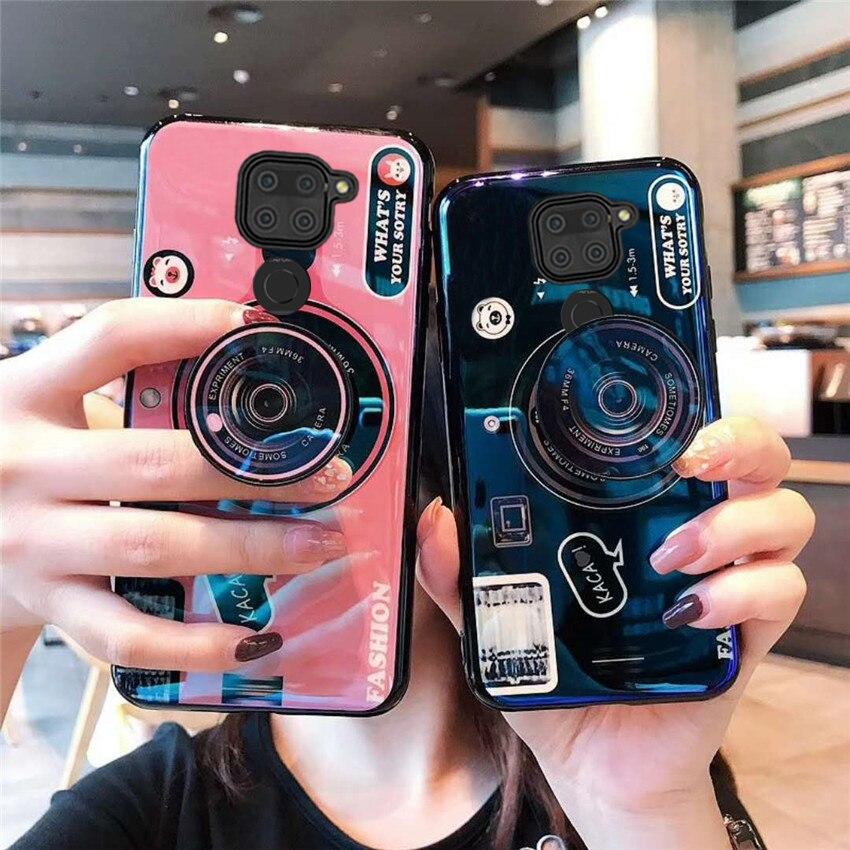 Funda para Xiaomi Redmi Note 9S 9Pro Max, funda de móvil suave para cámara de moda Redmi X10 4G 5G, funda trasera de silicona con luz azul