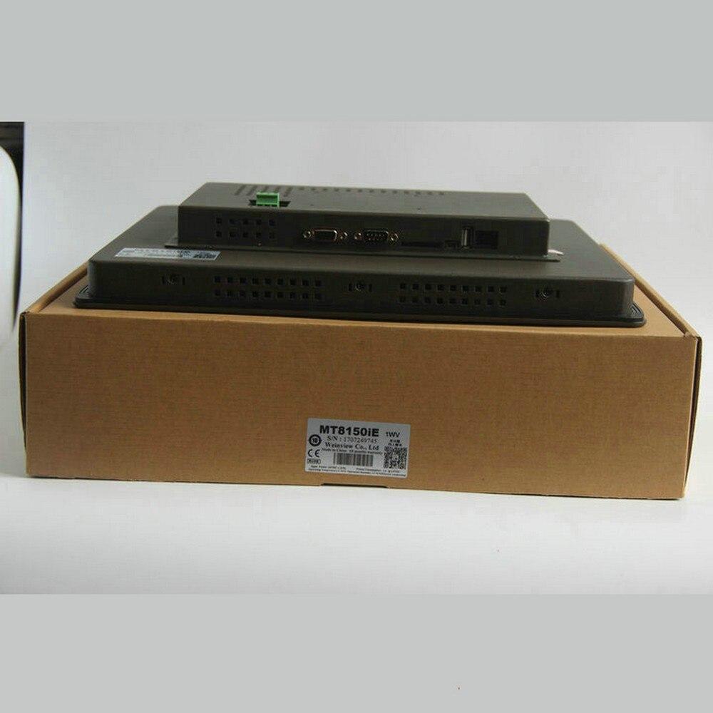 "15 ""hmi mt8150ie 15 polegada painel de toque ethernet weintek weinview substituir mt8150x novo na caixa"