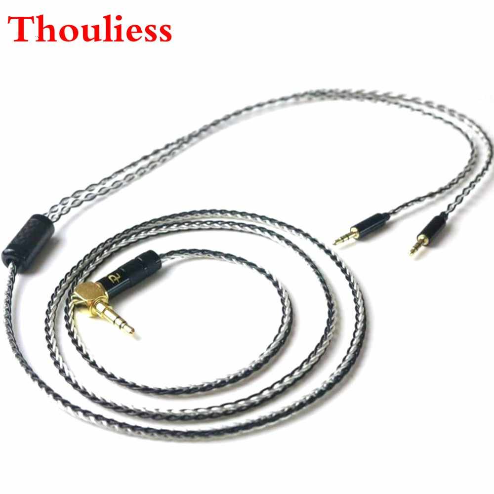 Thouliess Free Shipping 3.5/2.5/4.4mm Balanced Silver Plated Upgrade Cable for HE400i HE1000 HE6 HE500 he560 EDX V2 Headphones