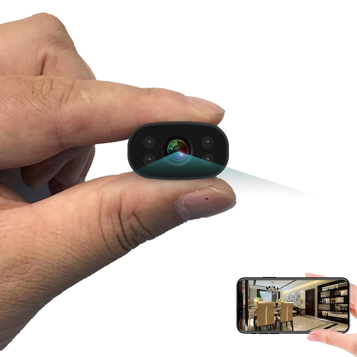 PNZEO-كاميرا أمان صغيرة لاسلكية صغيرة بدقة 1080 بكسل عالية الدقة ، وكاميرا فيديو مصغرة ، ومراقبة ممرضة ، وعرض عن بعد