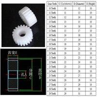 1 Piece Retail POM Pinion 1M 10 Teeth 11 12 13 14 To 25 26 27 28 29 Teeth Hole 3-12mm Mechanical Gear Repair Parts