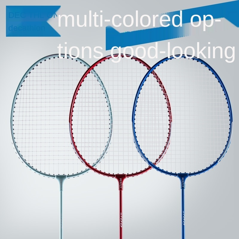 Badminton Racket Double Shot Set Single Shot Genuine Aluminum Alloy Solid Physical Education Class Beginner Resistance