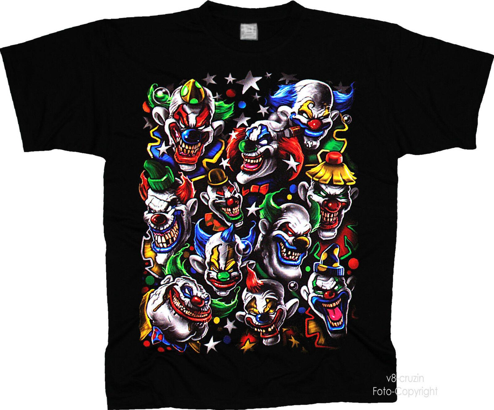 Halloween payaso circo harlequin actor de comedia fantasía Camiseta 4050-S-3XL hombres mujeres Unisex camiseta de moda envío gratis