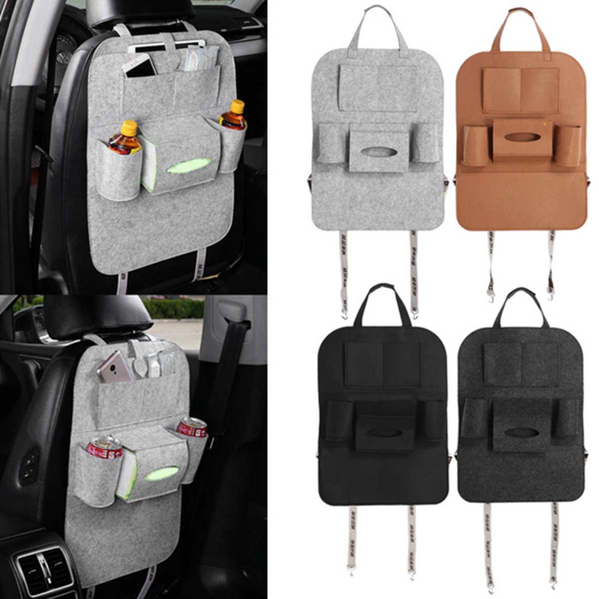 Органайзер на сиденье автомобиля, подвесная сумка, водонепроницаемая шерстяная войлочная сумка для хранения на автомобильное кресло, мног...