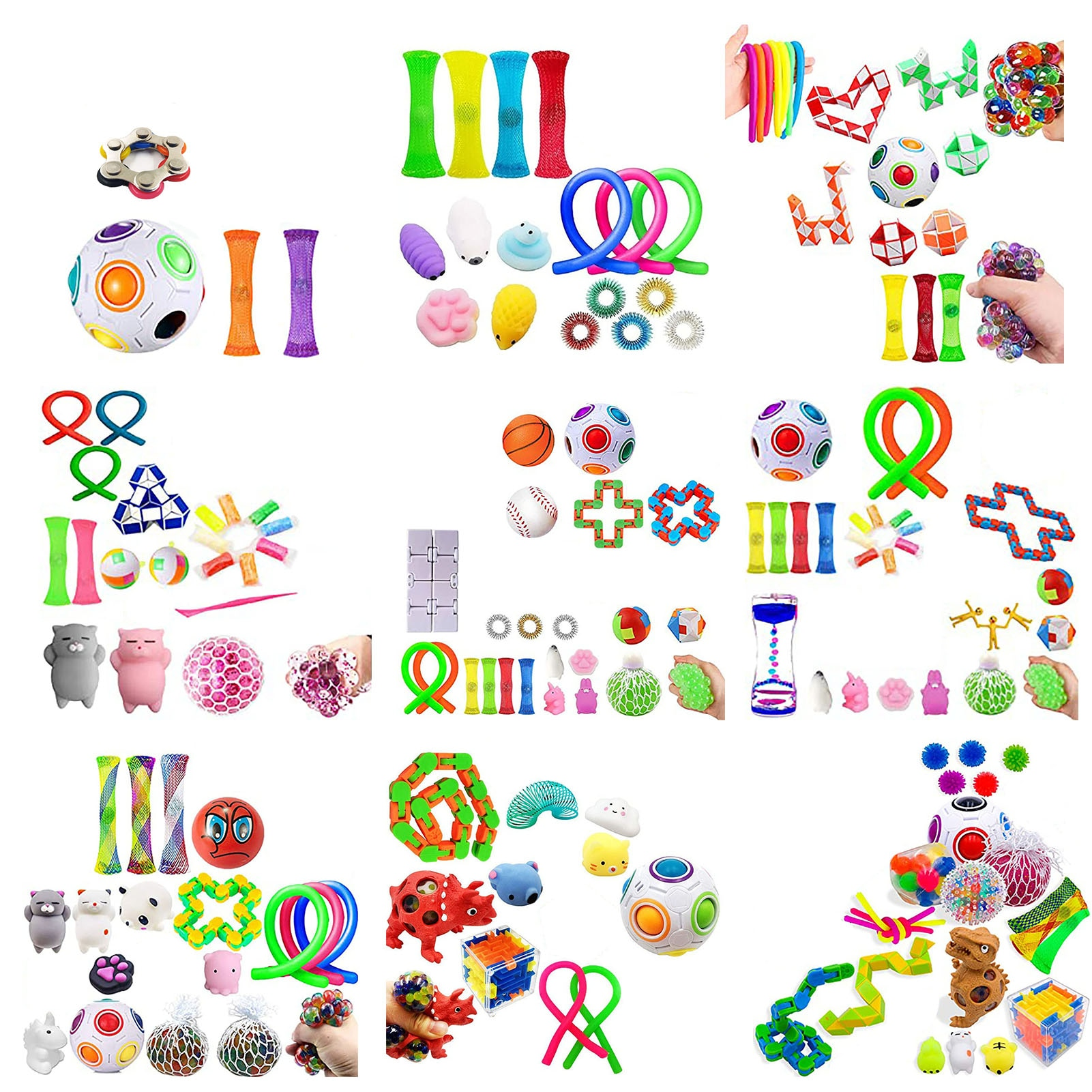 60PCS Fidget Simple Dimple Toy Decompression Toys Kids Adults Early Educational Autism Special Need enlarge