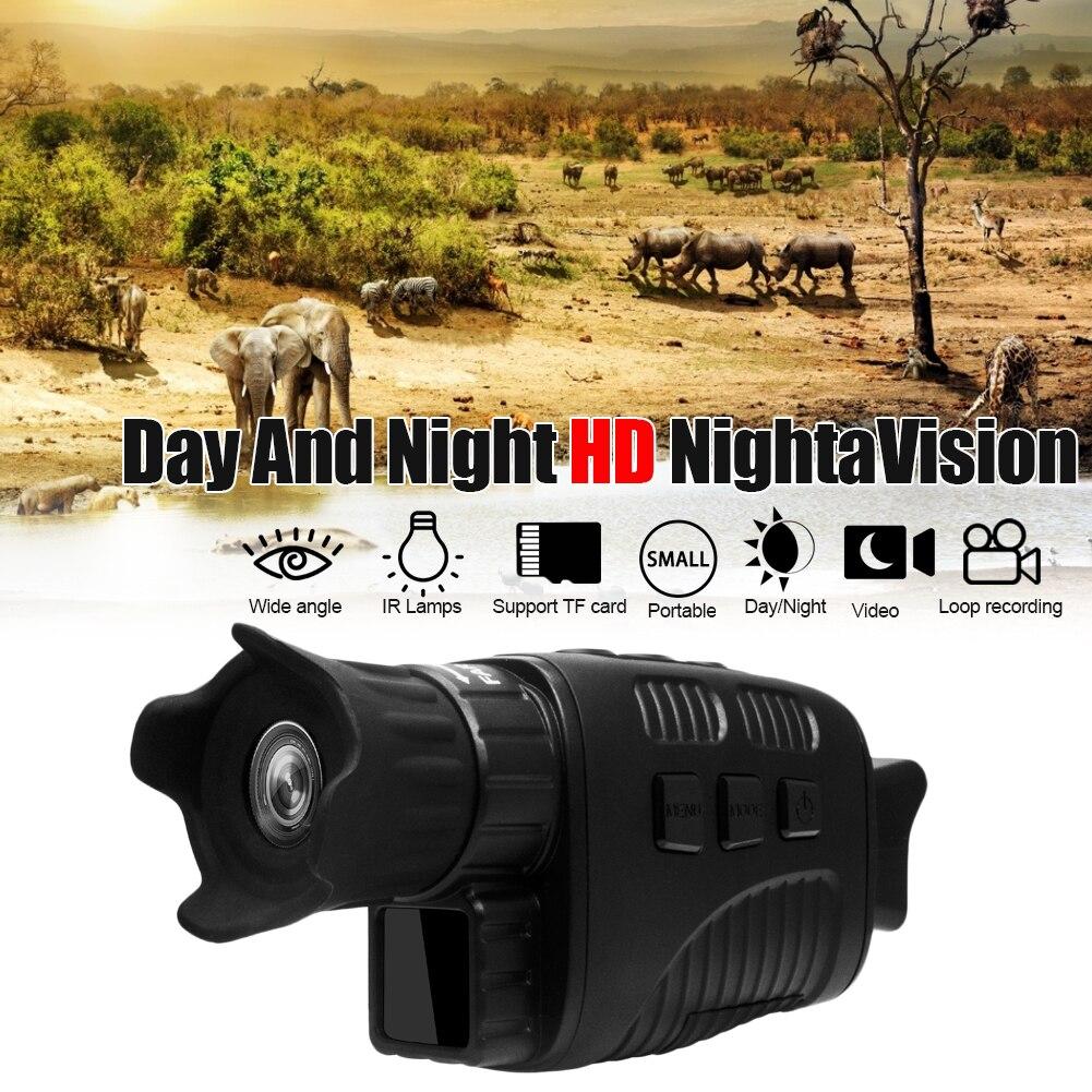 New Full Black Night Vision Device 300m Black Night Visible 10 Times Magnifying Glass Tft Daytime Telescope Single Tube Portable