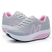 womens sneakers platform toning wedge light weight zapatillas sports shoes for woman breathable slimming fitness swing shoes