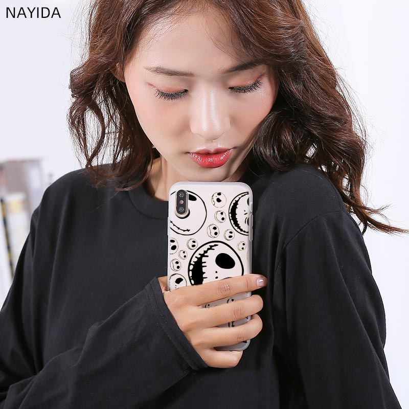 Funda del teléfono para Huawei P8 P9 Lite 2017 P10 P20 P30 Lite Plus Pro P Smart 2019 Z cubierta de jack skellington