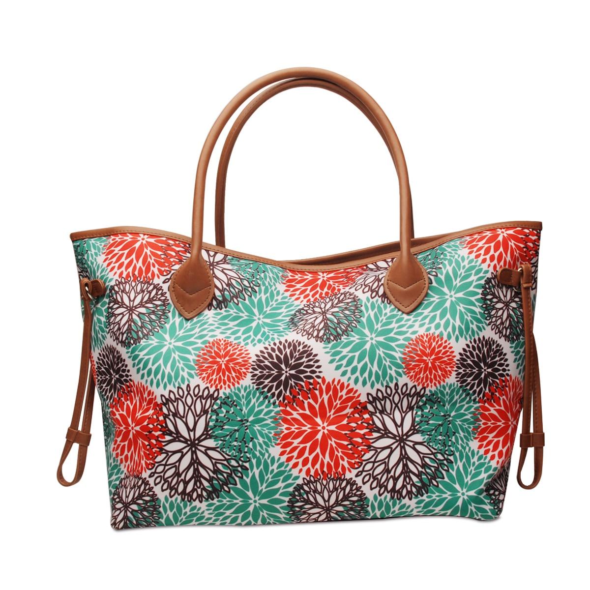 Alex в прибрежных районах синяя сумка таможня напечатала уик-энд Сумка-тоут сумка кошелек для Для женщин летом DOM1071851