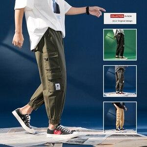 Мужские черные брюки для бега, весна-лето 2020, комбинезоны с большими карманами, весенние уличные комбинезоны, спортивные штаны высокого кач...