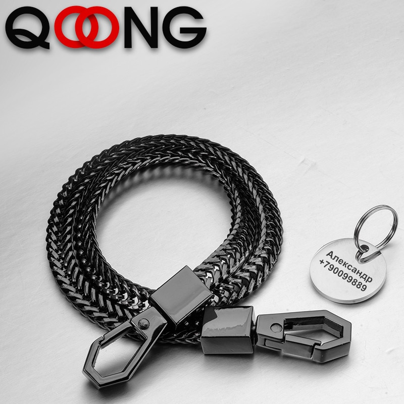 41cm Rock Punk Long Metal Wallet Belt Chain Trousers Hipster Pant Jean Keychain Key Rings Clip Keyring HipHop Jewelry Y75 punk street keychain trousers pants chain for women men multi layer metal wallet belt chains hipster keyring hiphop jewelry
