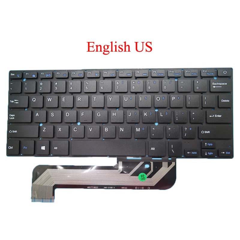 Computador portátil eua teclado para irbis nb44 YMS-0186-A mb27716023 inglês preto sem moldura novo
