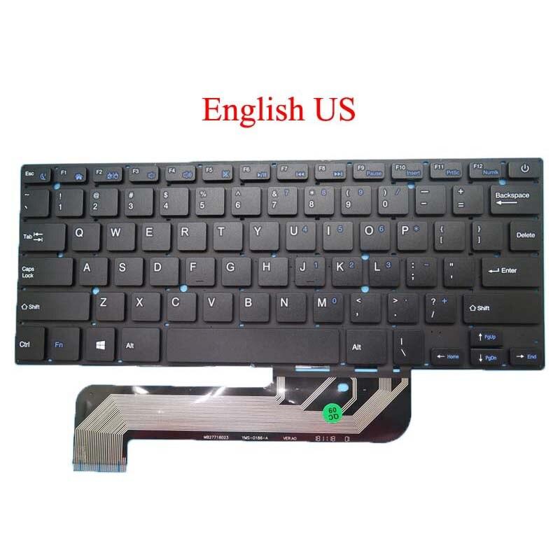 Клавиатура для ноутбука, США, для Irbis NB44, MB27716023, английский, черный, без рамки, Новинка