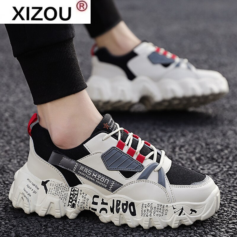 XIZOU NEW  Casual Shoes Spring Sneakers Men Masculino Adulto Autumn Breathable Fashion Snerkers Men Trend Zapatillas Hombre Flat