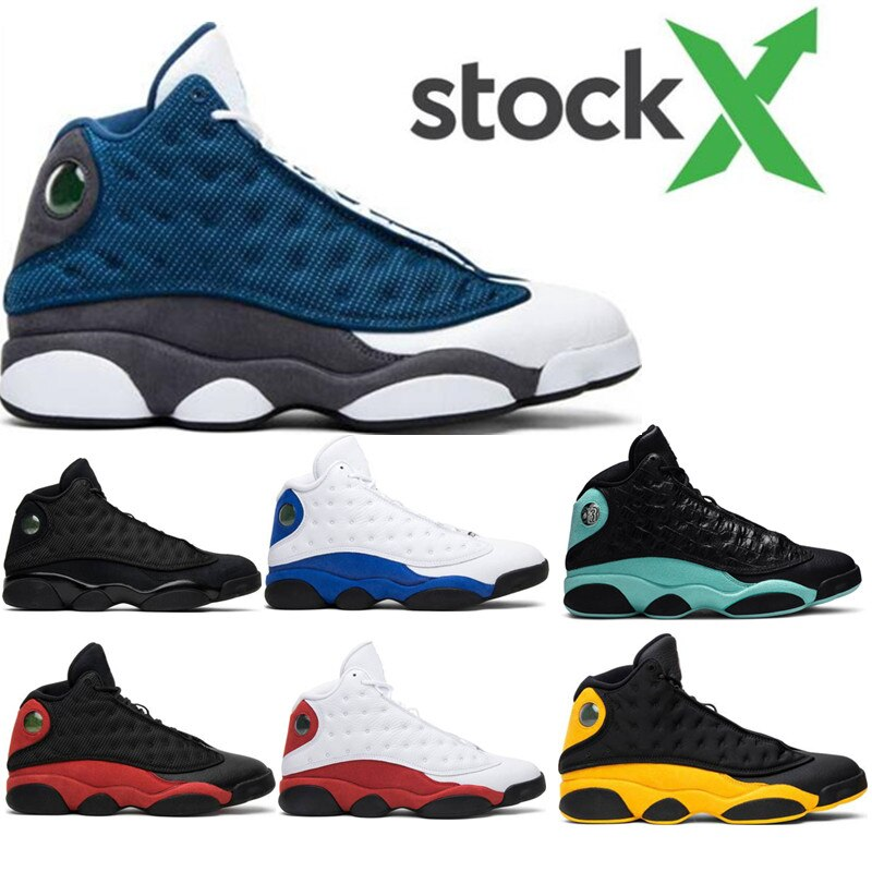 Black Cat Flints 13 13s Island Green Mens Basketball Shoes Cap And Gown Phantom GS Hyper Royal Bred Wheat DMP sports sneakers