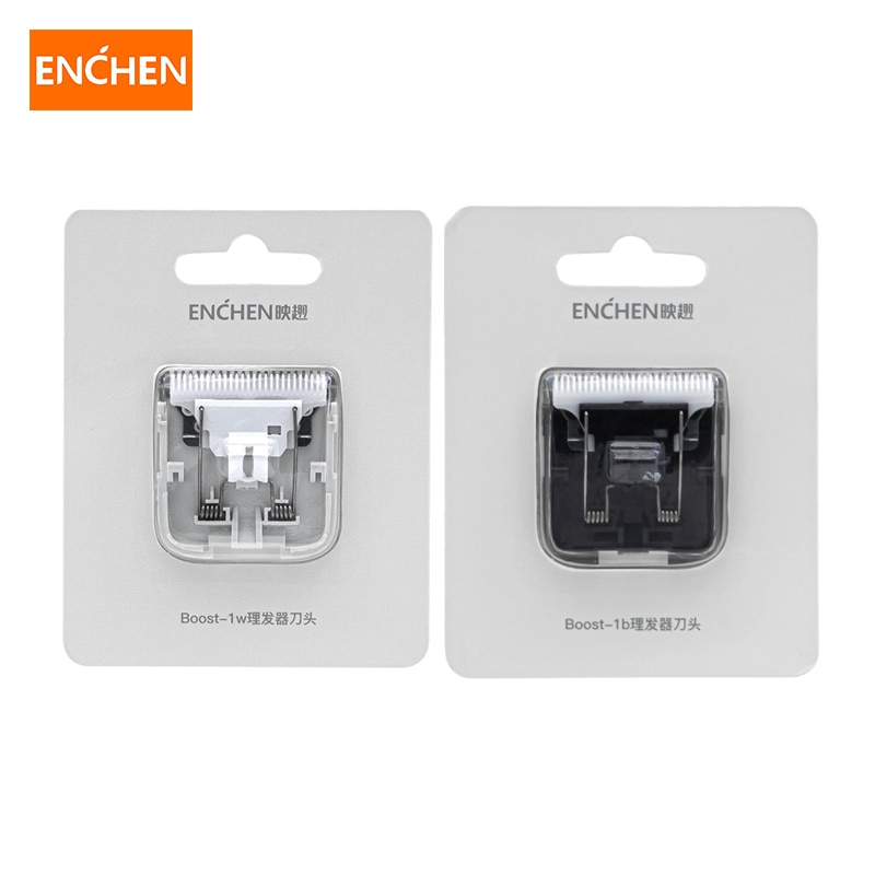 para Xiaomi Enchen Lâminas de Tosquiadeira Impulso Substituição Cabelo Nano Cerâmica Cabeça Cortador Branco Preto Original Enchen Cabeças